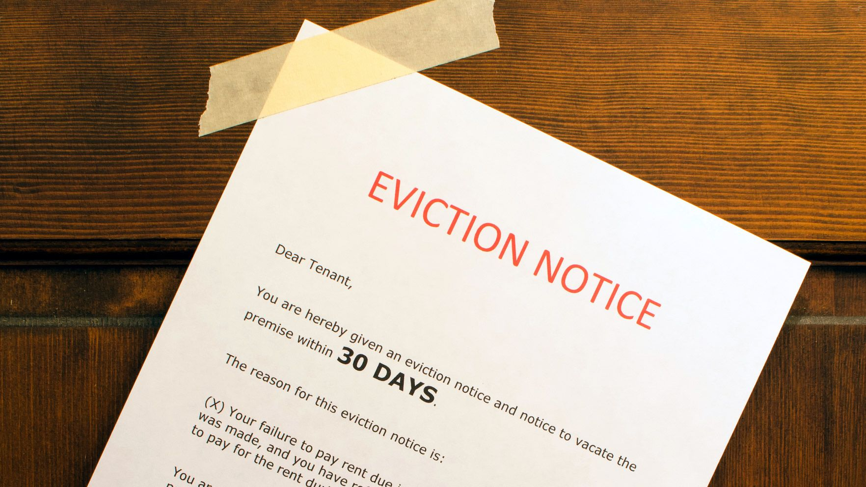 Eviction Notice Posted